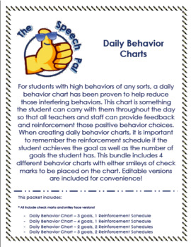 Daily Behavior Charts