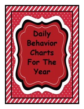 Daily Behavior Charts for the Year