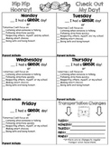 Daily Behavior Check Sheet - EDITABLE!