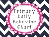 Daily Behavior Checklist for Primary Grades