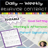 Daily ~ Weekly Behavior Contract Chart