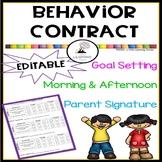 Editable Behavior Contract