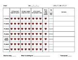 Daily Behavior Incentive Chart - Hearts theme