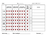 Daily Behavior Incentive Chart - Hearts theme