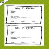 Daily Behavior Intervention Sheet RTI Free Resource