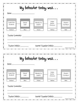 Daily Behavior Logs