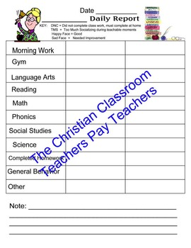 Daily Behavior Logs for Parents and Teachers