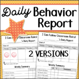 Daily Behavior Report