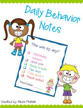 Daily Behavior Notes