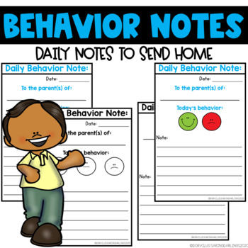 Daily Behavior Notes Home