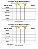 Daily Behavior Plan