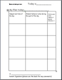 Daily Behavior Plan/Tracking Chart- Primary grades