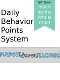 Daily Behavior Points System