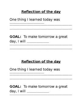 Daily Behavior Reflection