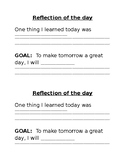 Daily Behavior Reflection