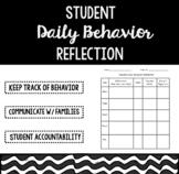 Daily Behavior Reflection Log