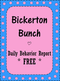 Daily Behavior Report