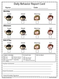 Daily/Weekly Behavior Report Card {Freebie}