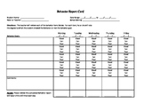 Daily Behavior Report Card for Rti