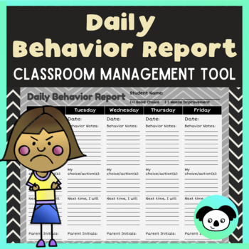 Daily Behavior Report & Classroom Management