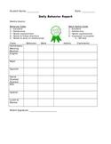 Daily Behavior Report (Parent-Teacher Communication)