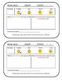 Daily Behavior Report for Home