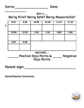 Daily Behavior Sheets