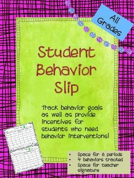 Daily Behavior Slip