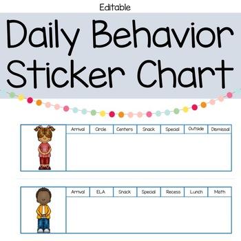 Daily Behavior Sticker Chart
