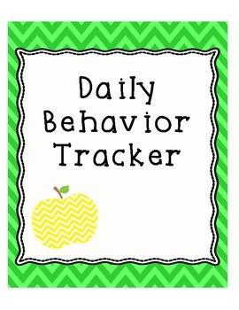 Behavior Data - Daily Behavior Tracker