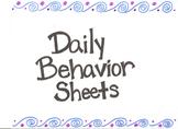 Daily Behavior Tracking Sheets