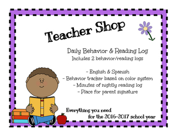 Daily Behavior and Reading Log (As created by our school)