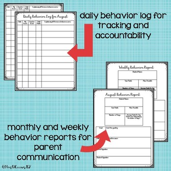 Daily Behavior for Upper Elementary Classrooms
