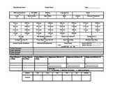 Daily Behvaior Monitoring Point Sheet