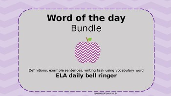 Daily Bell Ringer- Vocabulary (Word of the Day)