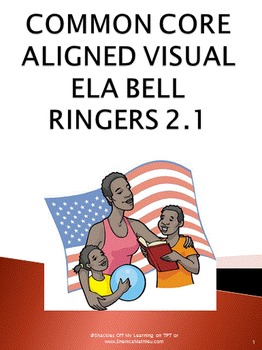 Daily Bell Ringers or Warm Ups for Visual Learners - Month 2 week #1
