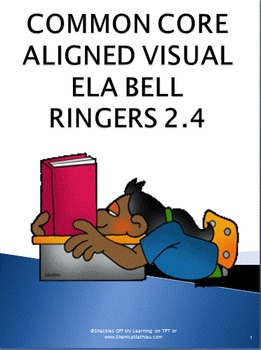 Daily Bell Ringers or Warm Ups for Visual Learners - Month