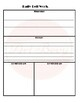 Daily Bell Work  & Warm Up Worksheet