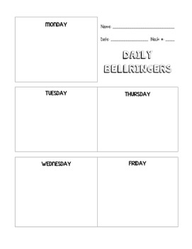 Daily Bellringer Recording Page