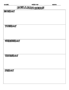 Free Daily Bellringer Sheet for Middle School!