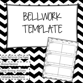 Daily Bellwork Template