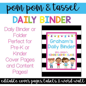 Daily Binder/Folder Covers, Labels, and Reference Pages!