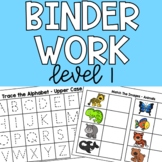 Daily Binder Work - Perfect For Special Education