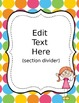 Daily Binder for Students - Colorful Polka Dots and Stick Kids