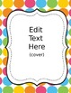 Daily Binder for Students and Teachers Just Dots- Editable
