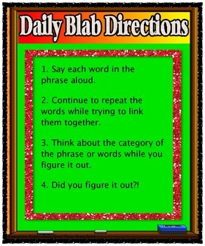 Daily Blab! Word Puzzles: Exercise Your Brain