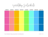 Daily Block Schedule Printable