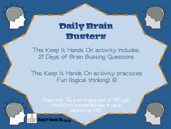 Daily Brain Busters