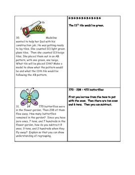 Math-3rd Grade-Month 02: Challenge Problem Solving (Questions 21-40)
