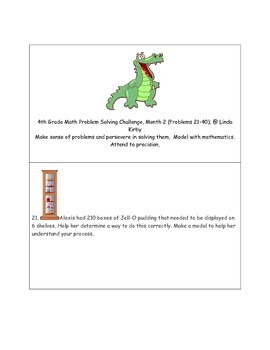 Math-4th Grade-Month 02: Challenge Problem Solving (Questions 21-40)